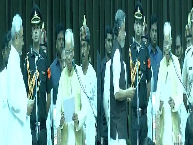 नीतीश कुमार ने 6वीं बार ली बिहार के सीएम पद की शपथ, सुशील मोदी फिर डिप्टी सीएम