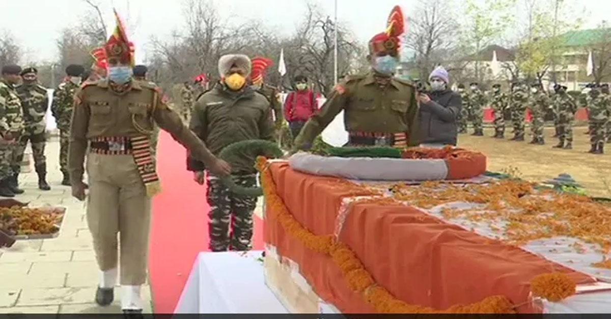 सरहद की सुरक्षा करते शहीद जवानों को सेना ने दी अंतिम विदाई, घुसपैठ की थी नाकाम