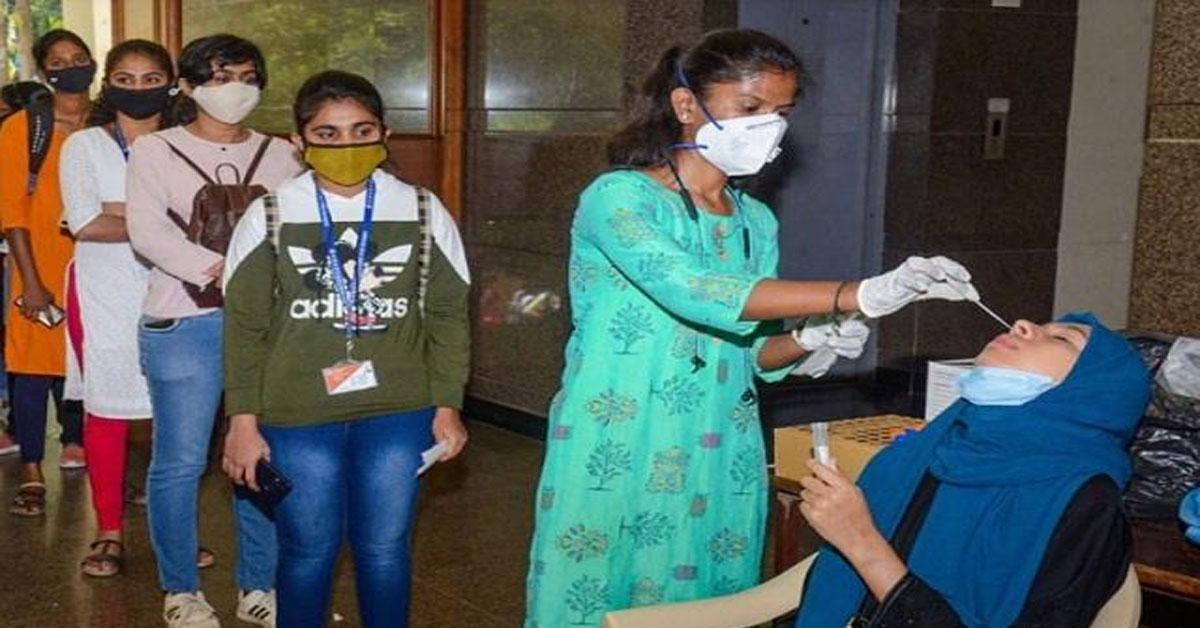 भारत में कोरोना का प्रकोप जारी : कोरोना  वायरस के पिछले 24 घंटे में दर्ज हुए 96,982  मामले