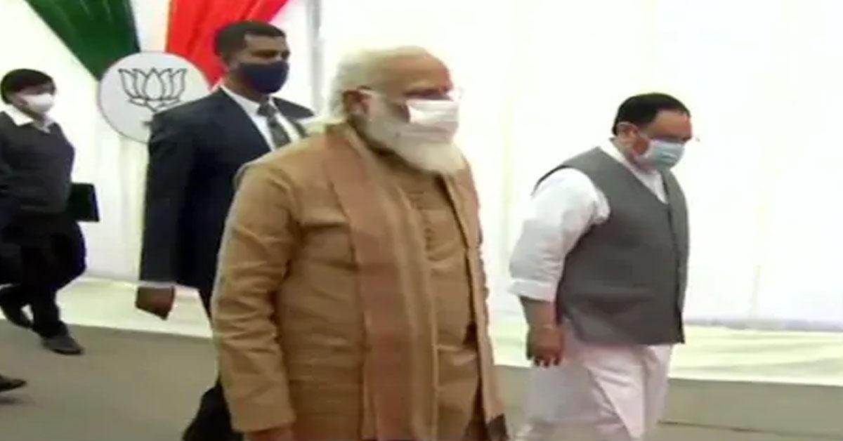 आगामी विधानसभा चुनाव के लिए BJP की बैठक में पहुंचे PM मोदी, दिखाएंगे जीत का विजन