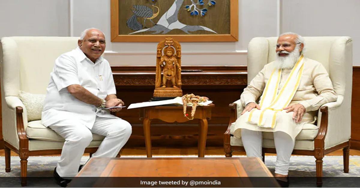 बीएस येदियुरप्पा ने PM मोदी से मुलाकात में कर्नाटक के CM पद से इस्तीफे की पेशकश की : सूत्र