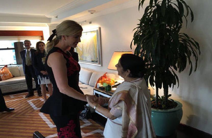 इवांका ट्रंप ने बताया सुषमा स्वराज को 'करिश्माई' विदेश मंत्री