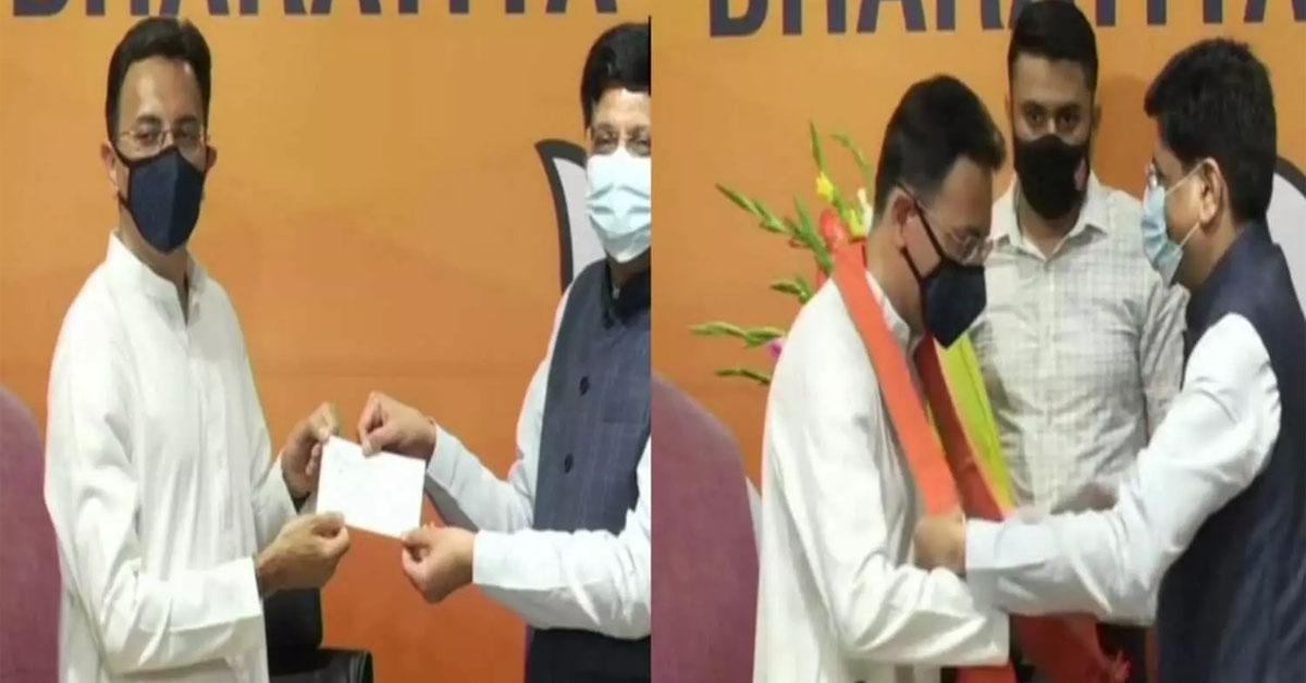उत्तर प्रदेश  चुनाव से पहले कांग्रेस को झटका, बीजेपी में शामिल हुए जितिन प्रसाद