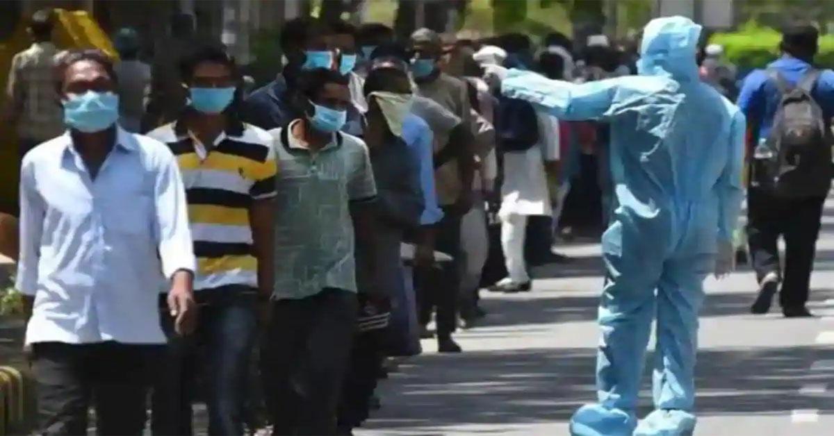 भारत में एक दिन में संक्रमण के सर्वाधिक 6,088 मामले